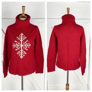 Ann Taylor Snowflake Turtleneck Sweater